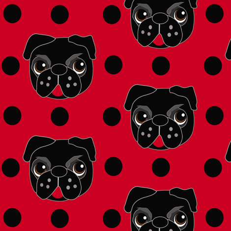 Lady Pug fabric by missyq on Spoonflower - custom fabric