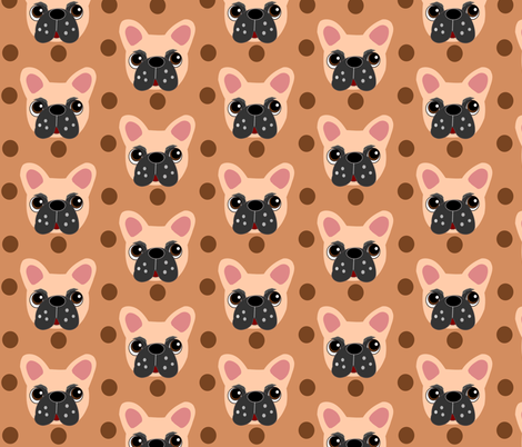 Francois the Frenchie  fabric by missyq on Spoonflower - custom fabric