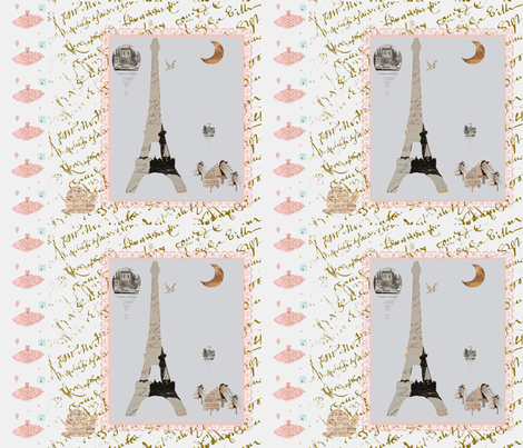 Laurie's French Script with snail fabric by karenharveycox on Spoonflower - custom fabric