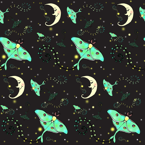 Luna Kites fabric by beesocks on Spoonflower - custom fabric