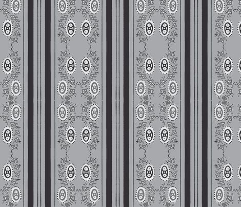 all grey printed stripey fabric by jennifer_rizzo on Spoonflower - custom fabric