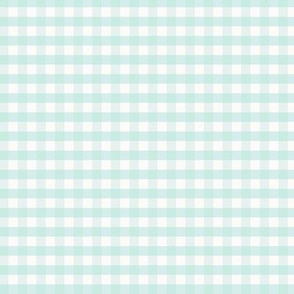 Gingham Tourquise