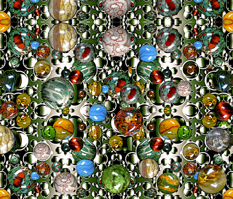 Lost My Marbles  fabric by whimzwhirled on Spoonflower - custom fabric