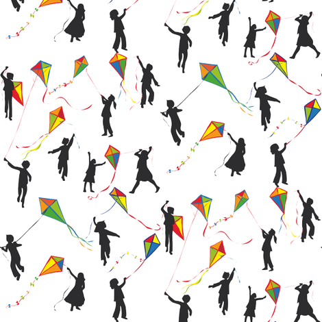 kids and kites fabric by johanna_design on Spoonflower - custom fabric