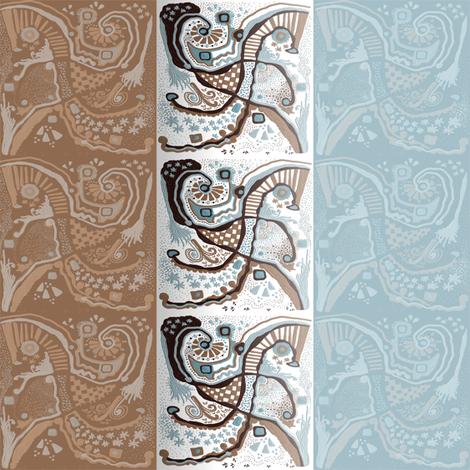 Crowded land stripe vertical  fabric by su_g on Spoonflower - custom fabric