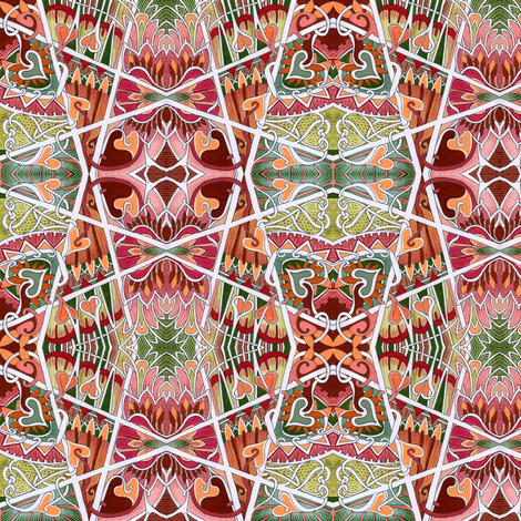 Sweethearts of the Zig Zag Southwest fabric by edsel2084 on Spoonflower - custom fabric