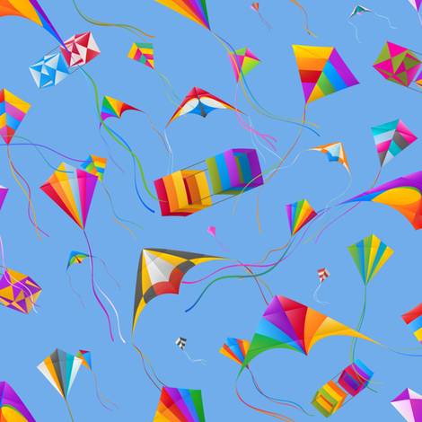 Kites fabric by fattcheese on Spoonflower - custom fabric