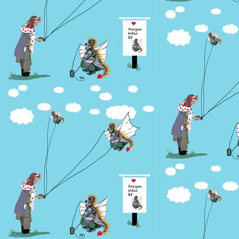 Dragon Kites $5.00 fabric by karenharveycox on Spoonflower - custom fabric