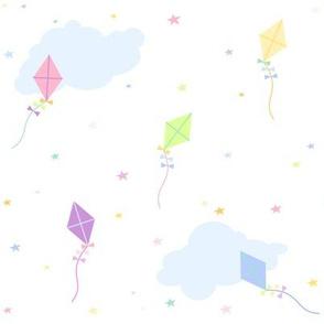Stars, Clouds, Kites & Daydreams! - Rainbow Pastels - © PinkSodaPop 4ComputerHeaven.com