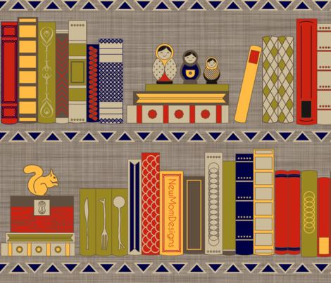 My bookshelf fabric by newmomdesigns on Spoonflower - custom fabric