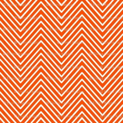 Orange chevron delicate