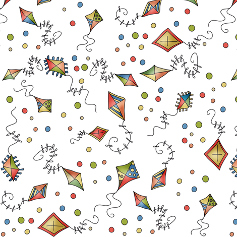 Party Kites! fabric by catru on Spoonflower - custom fabric