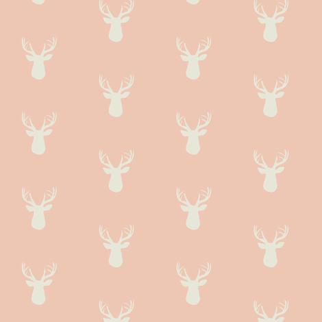 Fawn Blush ©2015 Jill Bull fabric by palmrowprints on Spoonflower - custom fabric