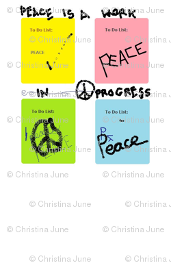 Peace is a work in progress