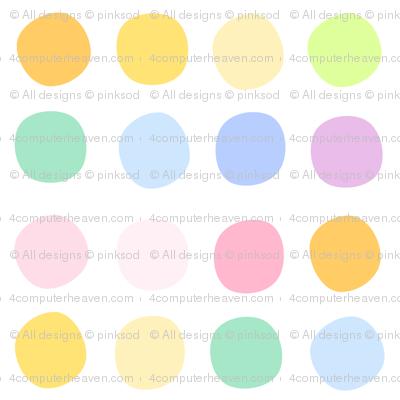 Rainbow Pastel - Dots -  © PinkSodaPop 4ComputerHeaven.com