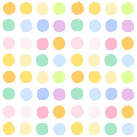Rainbow Pastel - Dots -  © PinkSodaPop 4ComputerHeaven.com fabric by pinksodapop on Spoonflower - custom fabric