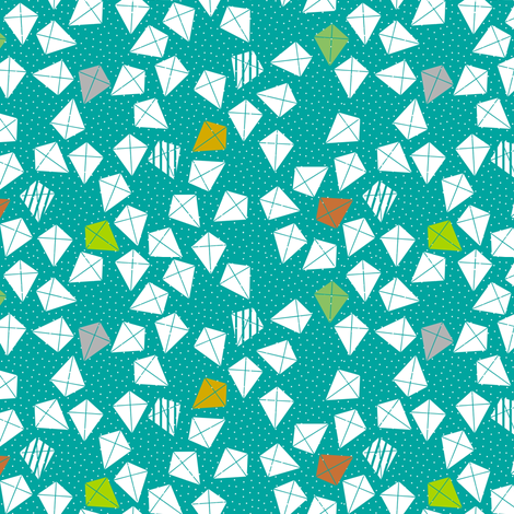Happy Kites fabric by mrshervi on Spoonflower - custom fabric