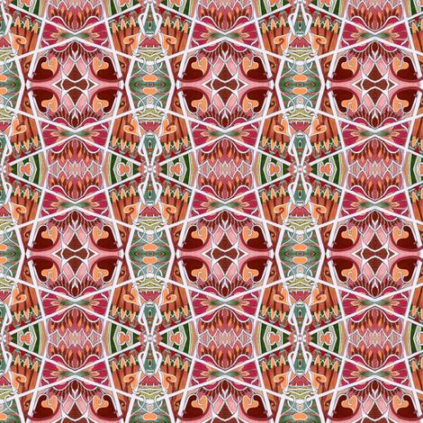 Zig Zag Holiday Hex fabric by edsel2084 on Spoonflower - custom fabric