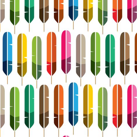 Rainbow Feathers fabric by ravenous on Spoonflower - custom fabric
