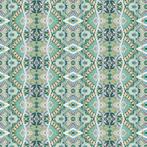 Old Victorian Times (green) fabric by edsel2084 on Spoonflower - custom fabric