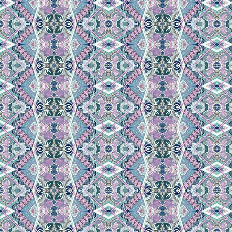 Old Victorian Times (small scale, blue/lavender) fabric by edsel2084 on Spoonflower - custom fabric
