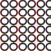 jewel toned circles