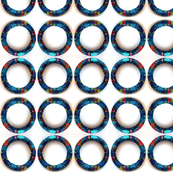 Turquoise Fabric Circles