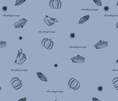thanksgiving dinner fabric by isabella_asratyan on Spoonflower - custom fabric