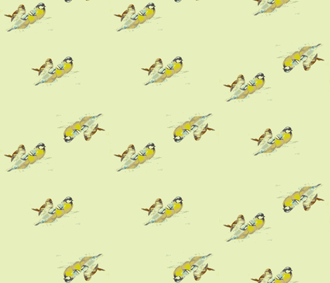 Chickadee Spring  fabric by relicfawn on Spoonflower - custom fabric