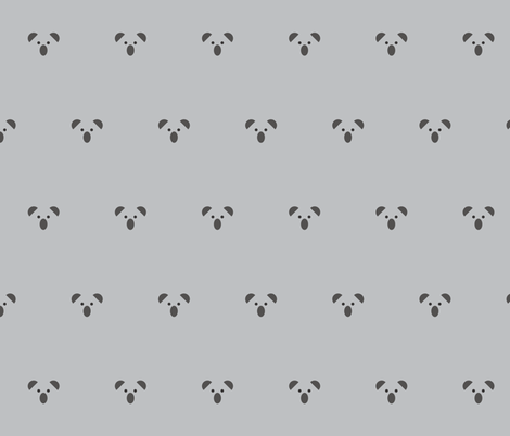 Koala Face Grey fabric by lizzybeans11 on Spoonflower - custom fabric
