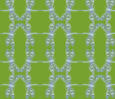 Snow Dragonfly fabric by relative_of_otis on Spoonflower - custom fabric