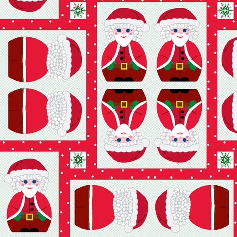 Father Christmas! fabric by squeakyangel on Spoonflower - custom fabric