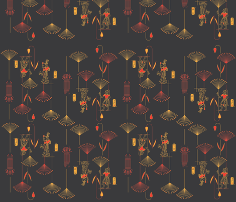 Deco egyptian print fabric by julia_canright on Spoonflower - custom fabric