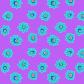 Bright Flowers-Purple
