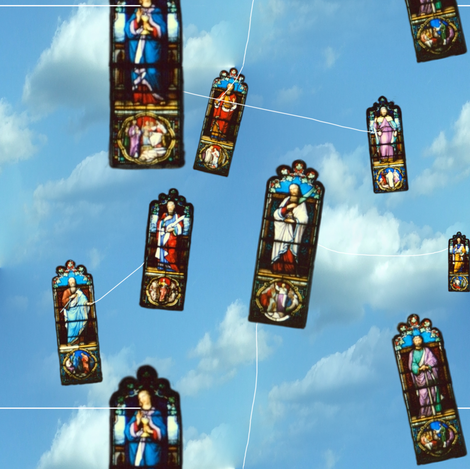 Oh! When The Saints Go Flying In fabric by peacoquettedesigns on Spoonflower - custom fabric