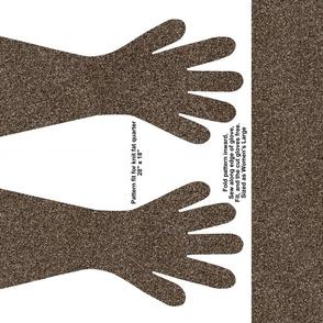 Dark Brown Specked Gloves