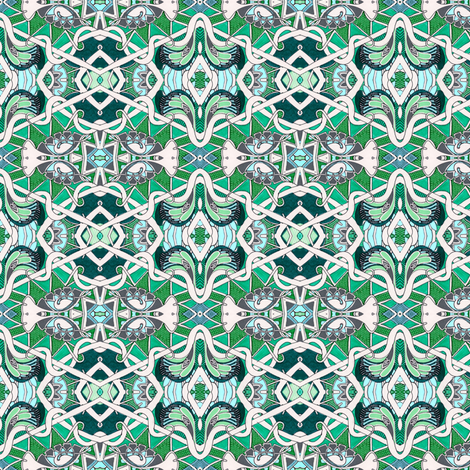 Knit Whit Diamond Hexagon Morning Glory fabric by edsel2084 on Spoonflower - custom fabric