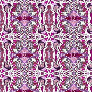 Tangled Poppy Twister (magenta/lavender)