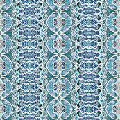 Circles vs Diamonds -a vertical stripe in blues