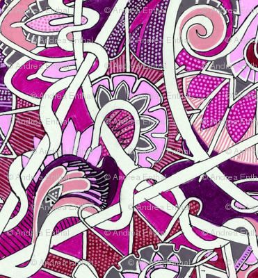 Twisted Magenta and Purple