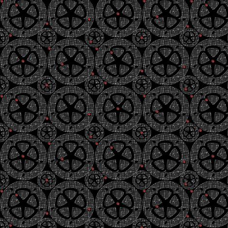 wheel 7 Tweed fabric by glimmericks on Spoonflower - custom fabric