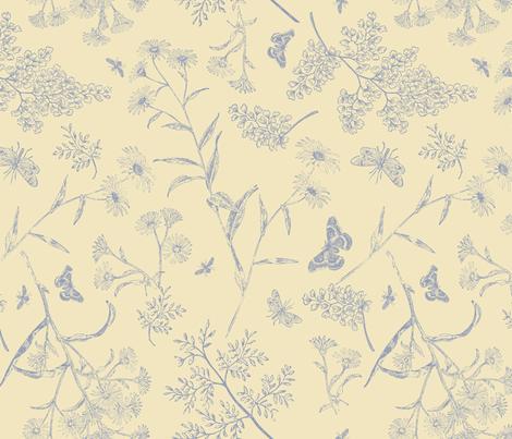 GARDEN_VISITORS fabric by natasha_k_ on Spoonflower - custom fabric