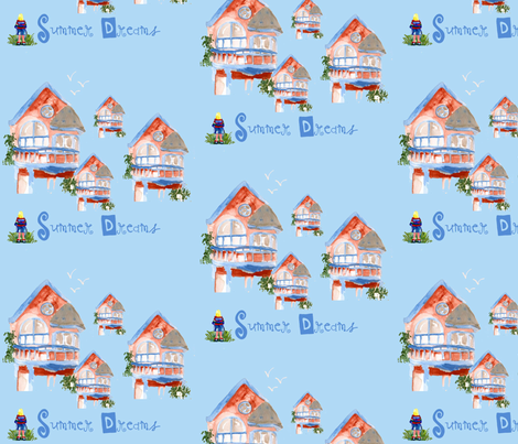 Summer Dreams fabric by karenharveycox on Spoonflower - custom fabric
