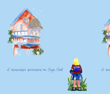 I remember summers on Cape Cod fabric by karenharveycox on Spoonflower - custom fabric