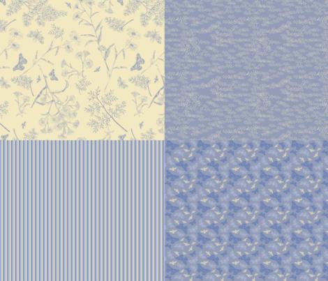 4in1 garden coordinates fabric by natasha_k_ on Spoonflower - custom fabric