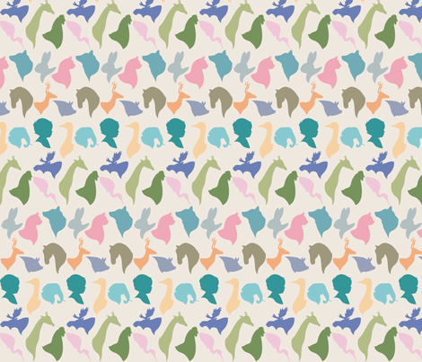 MINI_SILHOUETTES fabric by natasha_k_ on Spoonflower - custom fabric