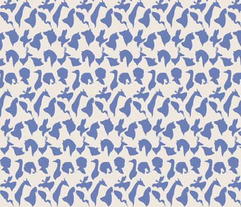 MINI_SILHOUETTES_BLUE fabric by natasha_k_ on Spoonflower - custom fabric