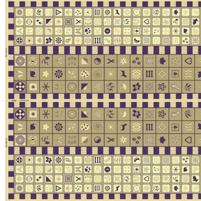 Symbol Scarf Pattern - gold