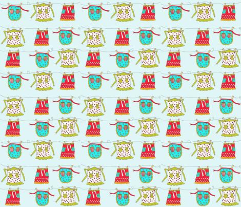 aprons on a line.  fabric by aubreyplays on Spoonflower - custom fabric