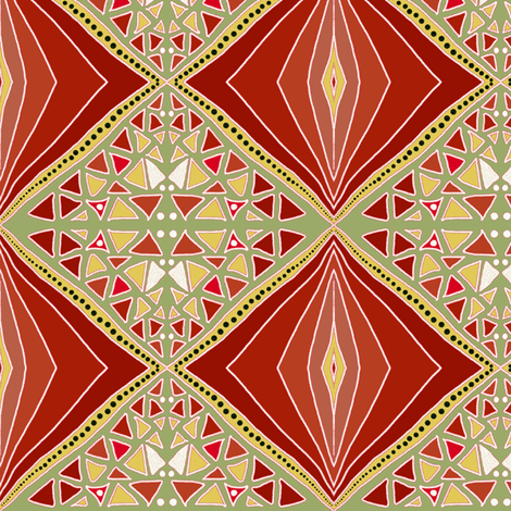 Russet shade diamonds by Su_G fabric by su_g on Spoonflower - custom fabric